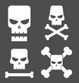 skull set for design vector image