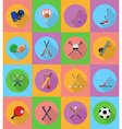 sport flat icons 19 vector image