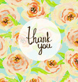 Thank you card Floral pastel background vector image