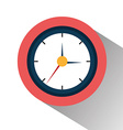 Time clock graphic vector image