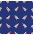 Space Rocket Flying on Blue Sky Seamless Pattern vector image vector image