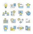 Assembly Icon Set In Color vector image