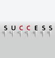success word vector image vector image