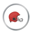 American football helmet icon in cartoon style vector image