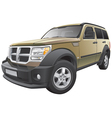 American compact SUV vector image