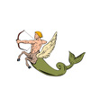 Archer Halfhorse Fishtail Shooting vector image vector image