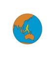 marathon runner running around world asia pacific vector image