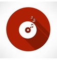 vinyl record tunes icon vector image