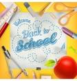 School season invitation template EPS 10 vector image