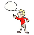cartoon man pointing and laughing with thought vector image