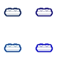 Set of paper stickers on white background bed vector image