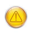 yellow warning button vector image