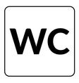 Restroom WC toilet sign vector image