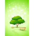 green tree background vector image