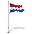 Flag Pole Netherlands vector image