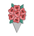 flowers bouquet isolated vector image