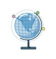 Globe icon cartoon style vector image