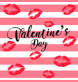 greeting card happy valentines day womens lips vector image