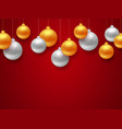 new year 2018 banner with christmas balls vector image