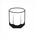 rocks glass tumbler sign simple icon vector image