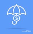 safe money outline icon white color vector image