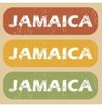 Vintage Jamaica stamp set vector image