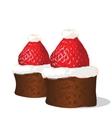 Strawberry chocolate cakes vector image