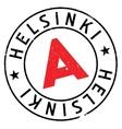 Helsinki stamp rubber grunge vector image