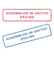 assembled in united states textile stamps vector image