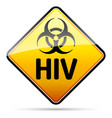hiv biohazard virus danger sign with reflect and vector image