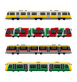 modern high speed city subway trains set vector image