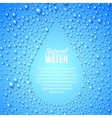 Blue abstraction with drops and copy space vector image