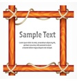 Wooden frame with rope vector image vector image