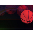 abstract basketball background vector image