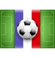 France Flag and Championship of football vector image