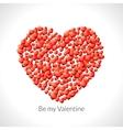 Heart shape of hearts Valentine vector image