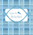 Background invitation Blue vector image