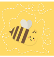 Bee Flying Path Cartoon vector image