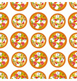 delivery pizza seamless pattern background vector image