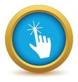 Gold click icon vector image