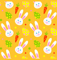 happy adorable rabbit face cartoon character head vector image