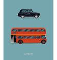 London Public Transport Icon Set vector image