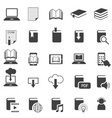 School Online E-Learning E-Book Book Icons Set vector image