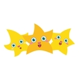 Three golden stars vector image