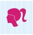 woman silhouette design vector image