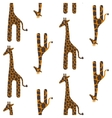 Giraffe cute seamless pattern Safari vector image