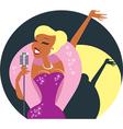 Cabaret singer vector image vector image