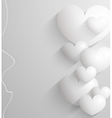 Valentines day Abstract paper 3d hearts card vector image