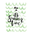 summer background Its summer time vector image