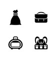 bag and backpack simple related icons vector image